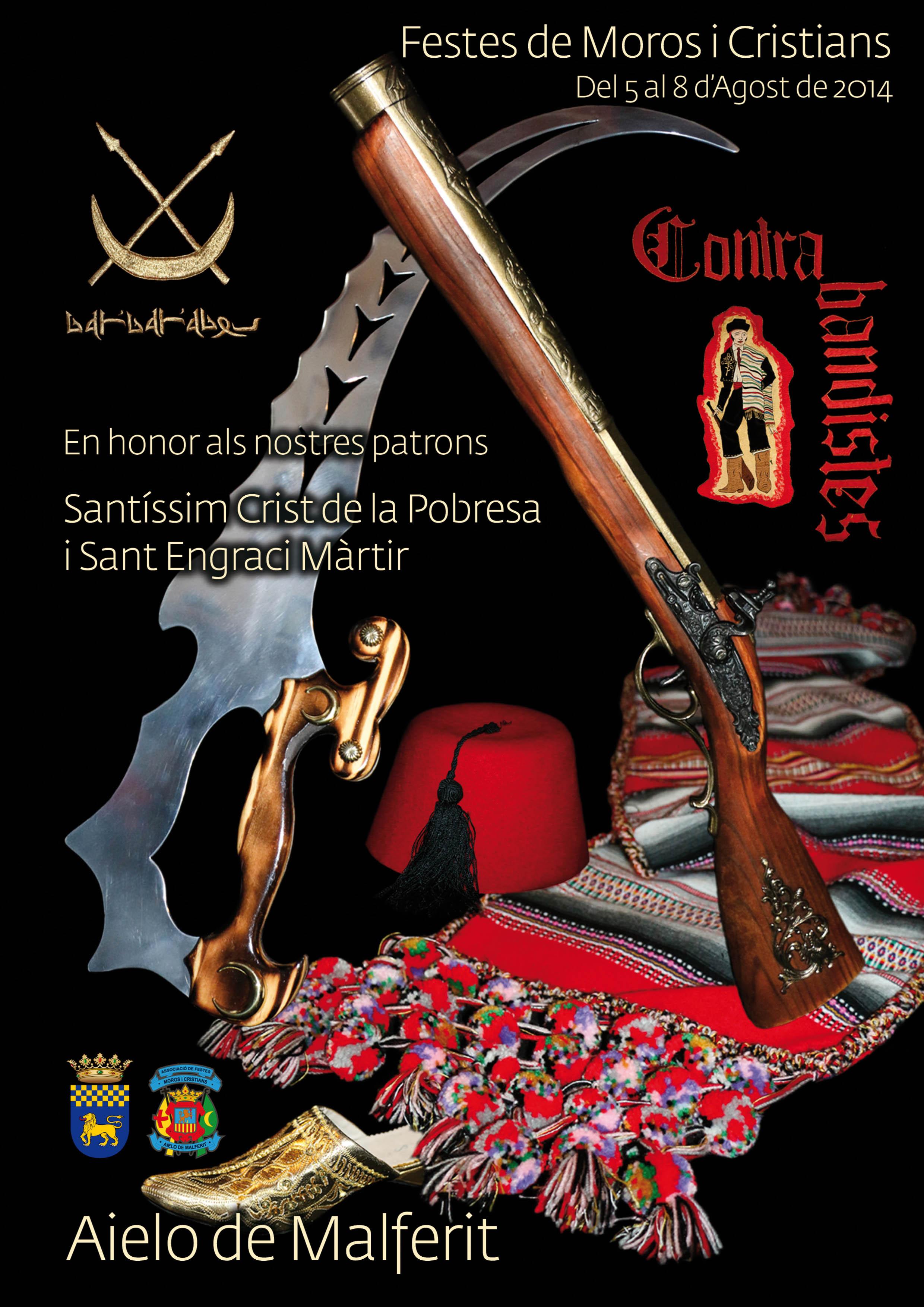 Portada del programa de fiestas de Moros y Cristianos 2014.